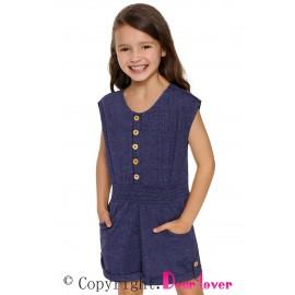 Blue Little Girls Cassie Romper