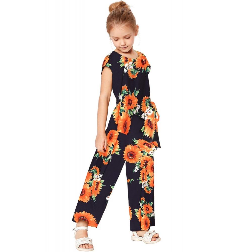 Blue Sunflower Jumpsuit