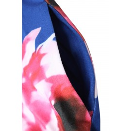 Blue Floral Maxi Dress for Kids