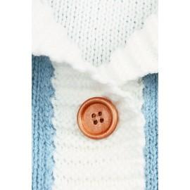 Azure Knit Baby Receiving Blanket