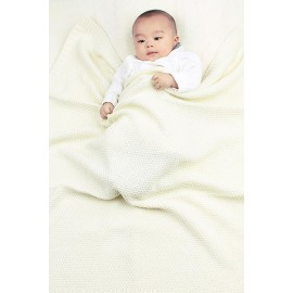 Creamy Quality Cotton Knitted Baby Blankets