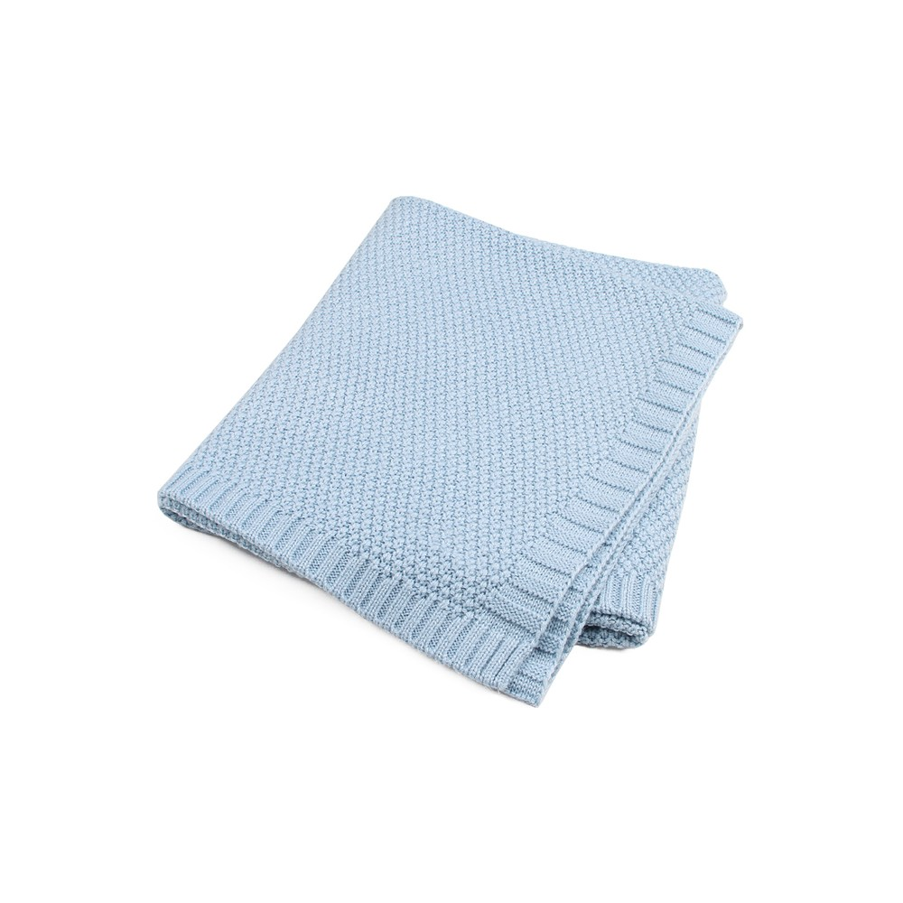 Azure Quality Cotton Knitted Baby Blankets