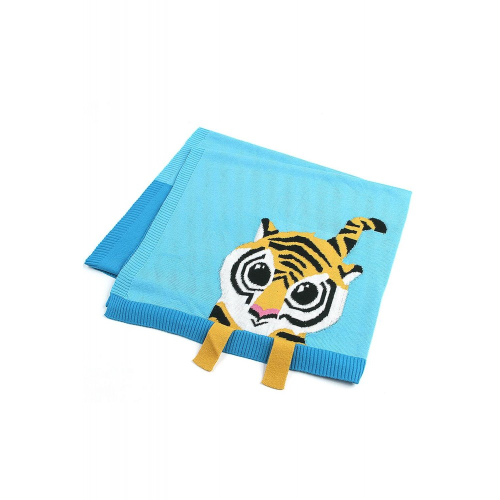 Sapphire Tiger Baby Receiving Blanket